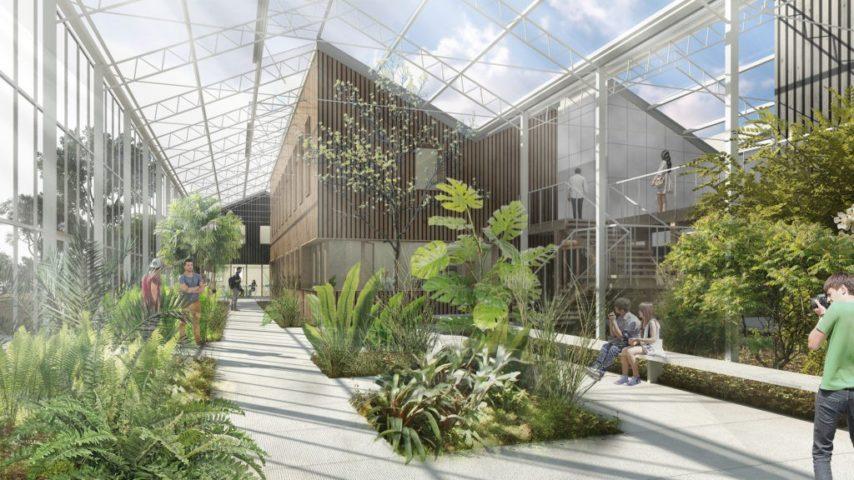 La Construction du Conservatoire Botanique s'achève